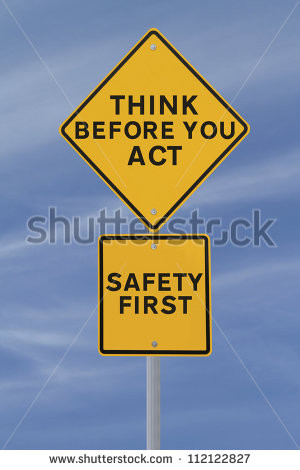 road sign indicating a safety quote or saying (against a blue sky ...