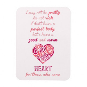 good_warm_heart_quote_pink_tribal_tattoo_girly_premium_magnet ...