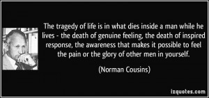 inside a man while he lives - the death of genuine feeling, the death ...