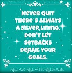 Don't let setback derail your goals