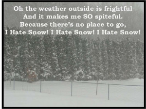 Hate Snow!
