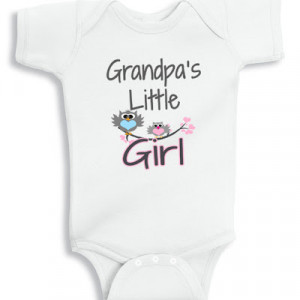 Grandpa's little Girl baby onesie