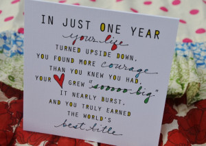 First Birthday Card for Mom, via Liv Lane
