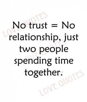 No Trust No Relationship