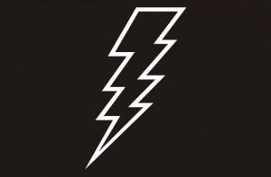 Lightning Bolt Symbol Black