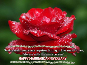 Quotes For Anniversary: Happy Anniversary Quotes With Red Rose ...