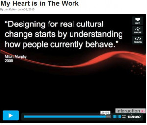 "Jon quotes Mitch Murphy in saying – ""Designing for real cultural ..."