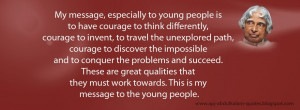 ... quotes for youth my message especially to young people is to have