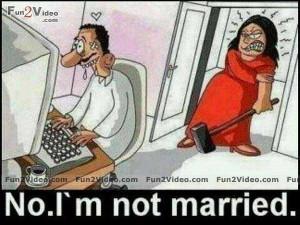 am not married picture joke