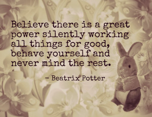 Free Printable Beatrix Potter Peter Rabbit Quote