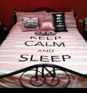 and sleep, cute, keep calm, love, pretty, quote, quotes