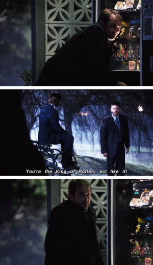 ... CROWLEY I SWEAR TO GOD STOP STEALING CANDY, it's too cute omfg I will