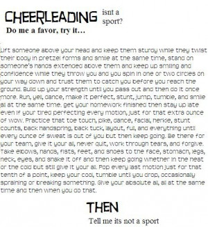 Reasons why cheering is a sport