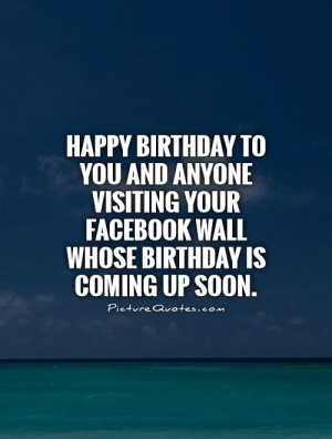 Happy Birthday Quotes Facebook Quotes