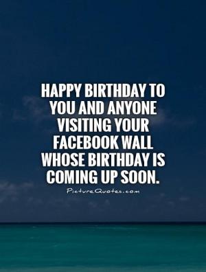 Happy Birthday Quotes Facebook Quotes