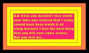 You Lost Me Quotes