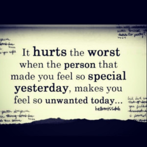 Quotes About Feeling Unloved And Unwanted