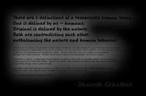 humans, a respectable human being is a person who has achieved a good ...