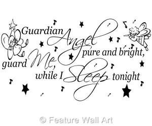 Guardian-Angel-Nursery-Rhyme-Quote-Vinyl-Wall-Art-Decal-Sticker-WA0330