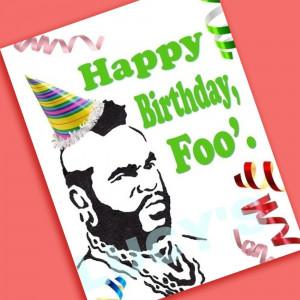 Happy Birthday Sarcastic