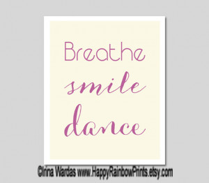 smile dance printable, hand lettering, digital typogrpahy, dance ...