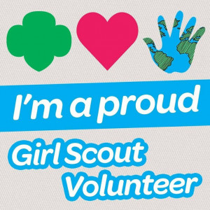 proud Girl Scout Volunteer