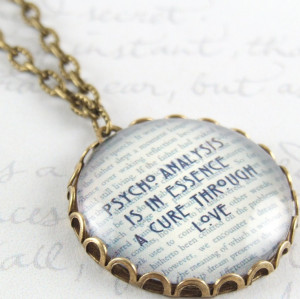 Psychologist Jewelry - Sigmund Freud Quote - The Unconscious Mind ...