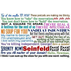 Seinfeld Quotes Greeting Card