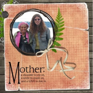 ... Home Page >> zanthia's Scrapbooks >> Mother and daughter - Page 1