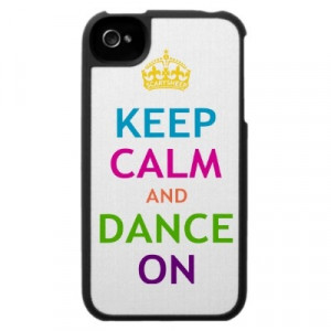 Keep Calm and Dance On Iphone 4 Cases by Scary Sheep