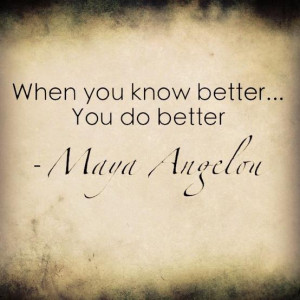 Motivational Quote from Maya Angelou, great advice for life today!