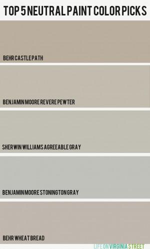 best neutral paint colors 2014