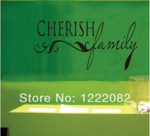 cherish-family-quote-wall-decal-zooyoo8027-removable-vinyl-wall ...