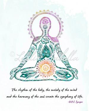 Yoga Art Lotus Pose 8x10 Metallic Print Iyengar by LeslieSabella, $20 ...