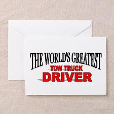 Tow Truck Greeting Cards