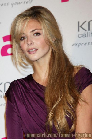 Tamsin Egerton is an English actress and model best known for her ...