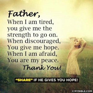 Father You are my peace