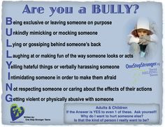 BULLY? Do you know many Adults are Bullies also? Sometimes, Bullying ...