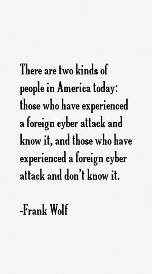 Frank Wolf Quotes & Sayings