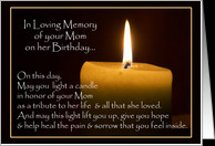 In Memory of Mom on her Birthday Cards Paper Greeting Cards - Product ...
