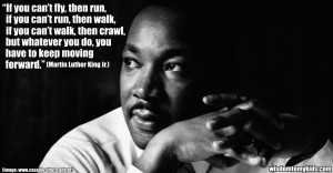 motivational quote by Martin Luther King Jr. on progress