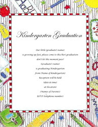 Kindergarten Graduation Invitations Templates Free