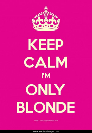 Dumb blonde quotes