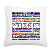 Friends Quotes Square Canvas Pillow for