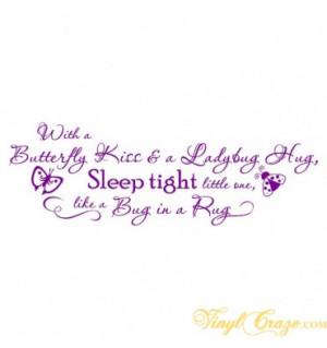 Home > Kids & Nursery > Butterfly kiss, Ladybug hug, Bug in a rug