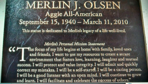 Merlin Olsen's words to live by