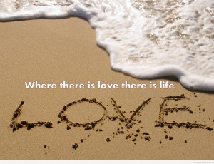 Beach love quote for summer