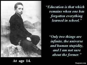 Re: Famous Quotes By Albert Einstein