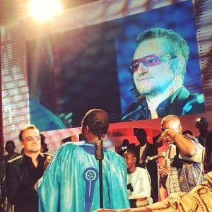 ... short video of Bono with Youssou N'dour singing The Redemption Song