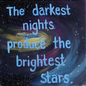 ... Quote Paintings The Darkest Nights Stars Art - Outer Space Wall Art